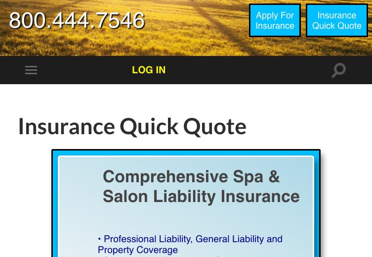 Agents Get Immediate Spa/Salon/Medispa Insurance Quotes